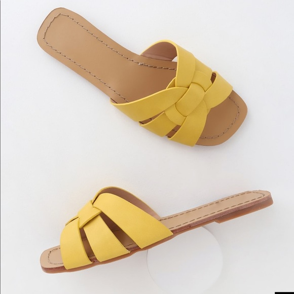 Shoes   Yellow Flat Sandals   Poshmark